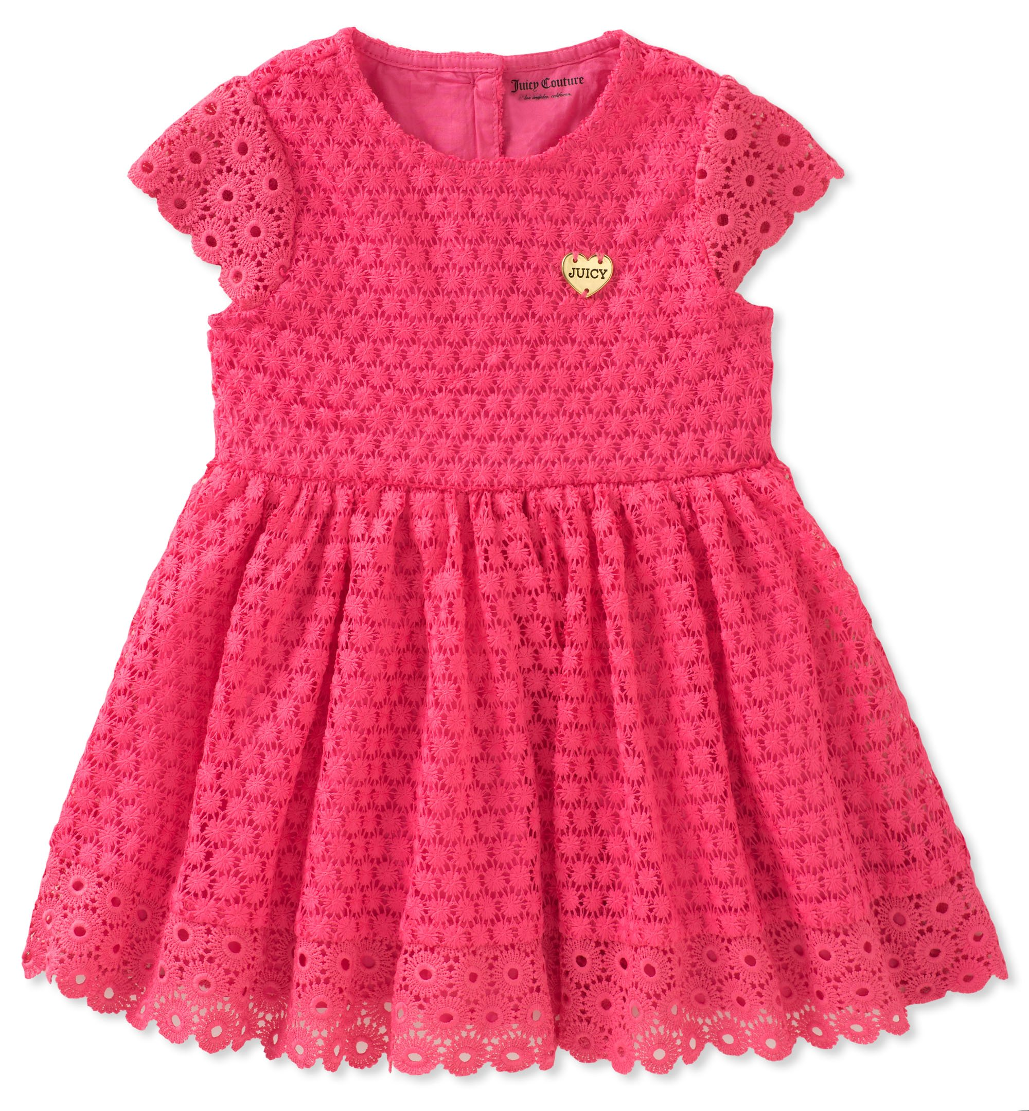 Juicy Couture Girls' Big Casual Dress, red, 8/10