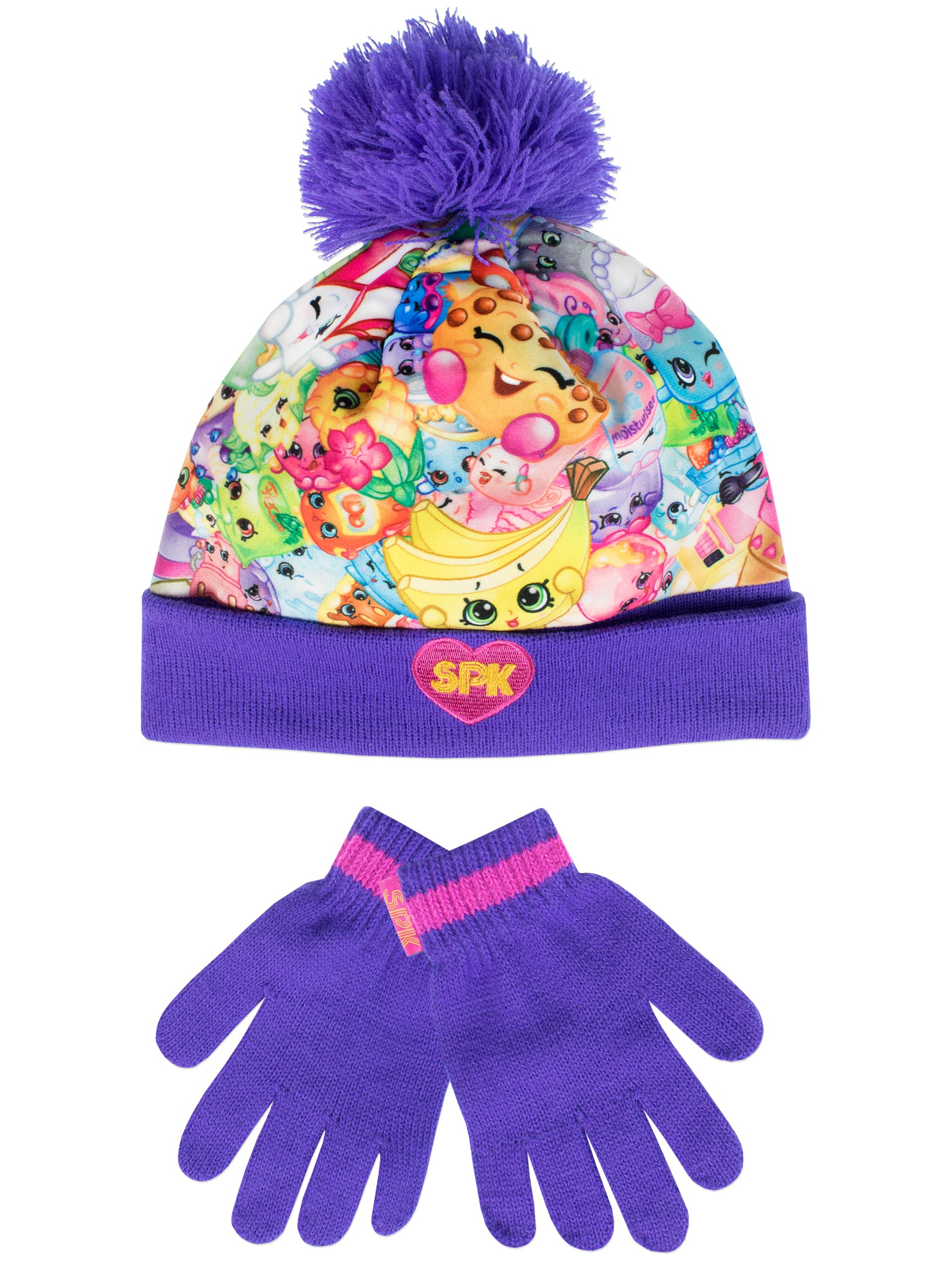 Shopkins Girls Hat and Gloves Set Size 8-10 Years