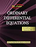 New College Ordinary Differential Equations For B.A./B.Sc. I (2nd Semester)