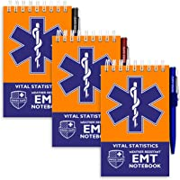 EMT Vital Notebook (3-Pack) - Includes 3 Pens, 140 Waterproof Pages/Notepad. Designed for Emergency First Responders…