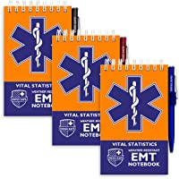 EMT Vital Notebook (3-Pack) - Includes 3 Pens, 140 Waterproof Pages/Notepad. Designed...