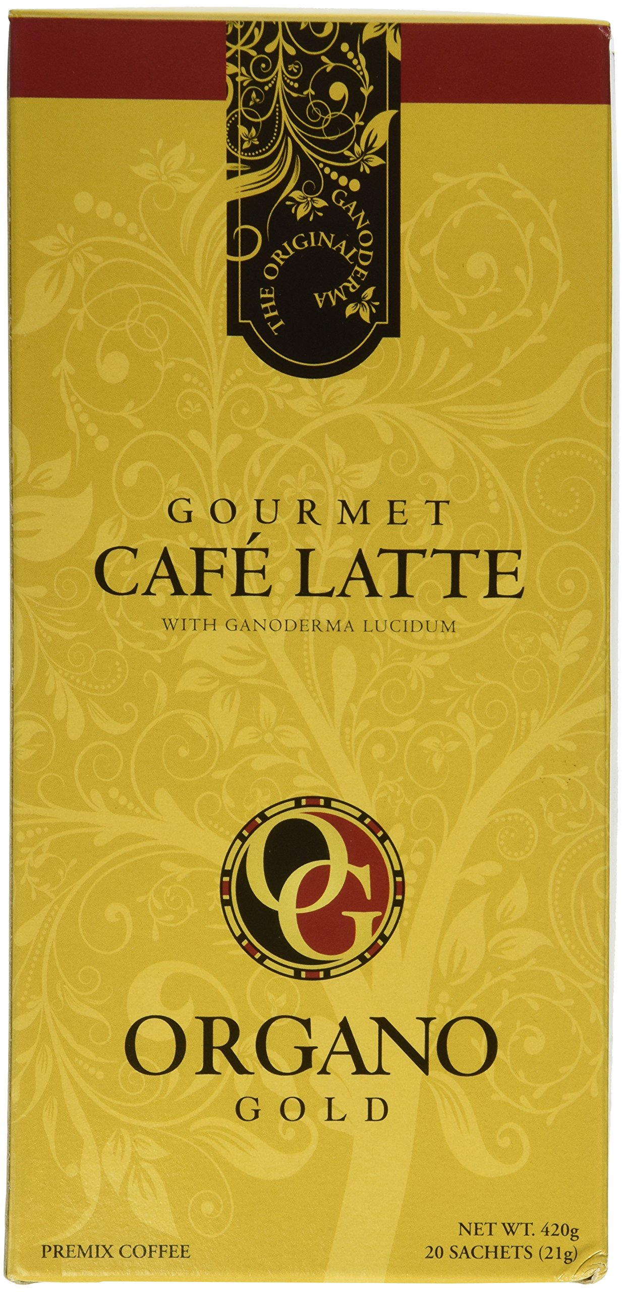 5 Box of Organo Gold Gourmet Coffee Latte 100% Certified Ganoderma Extract Sealed by Organo Gold