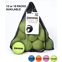 Gamma CGBOB10 Bag of Pressureless Tennis Balls - Sturdy & Reuseable Mesh Bag with Drawstring for Easy Transport - Bag-O…