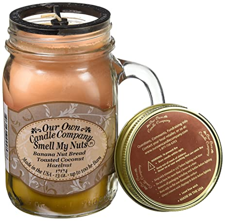 Smell My Nuts Scented 13 Oz Mason Jar Candle   Made In The USA By Our