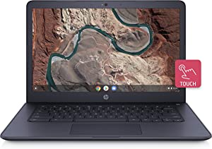 HP Chromebook 14-inch Laptop with 180-Degree -Hinge, Touchscreen Display, AMD Dual-Core A4-9120 Processor, 4 GB SDRAM, 32 GB eMMC Storage, Chrome OS (14-db0090nr, Ink Blue)