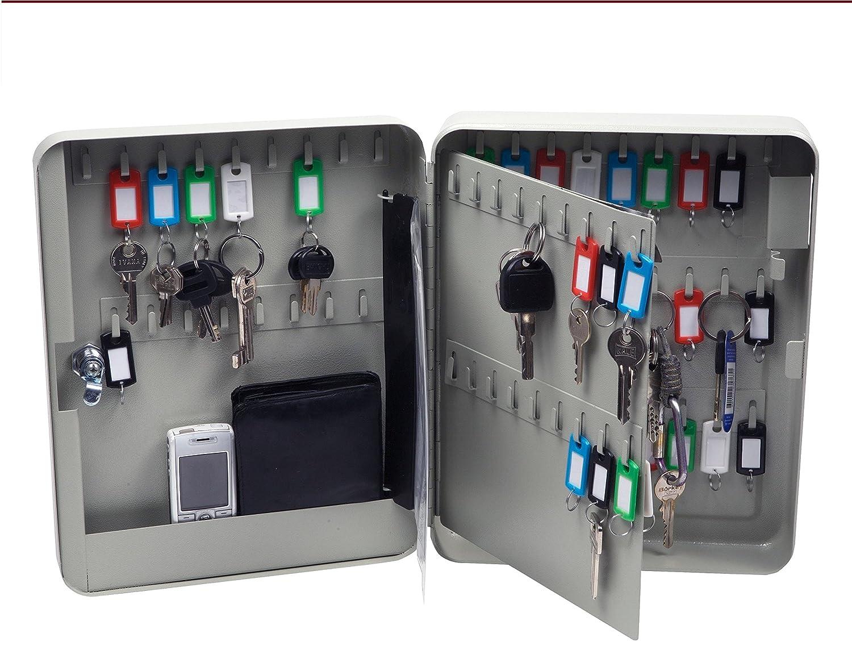 Schlüsselkasten für 80 Schlüsselhaken,beige, Schlüsselschrank ...