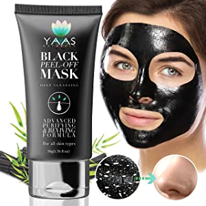 YAAS Naturals Charcoal Face Mask - All Natural Activated Charcoal, DIY Peel Off, Black