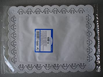 Doilies. 100 Pcs Rectangular Lace Paper Plates on a Table. Size 10x 13.5 Inches & Amazon.com: Doilies. 100 Pcs Rectangular Lace Paper Plates on a ...