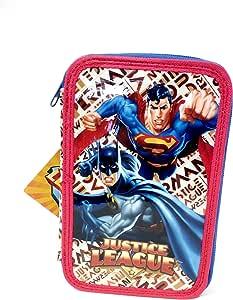 Batman Vs Superman Estuche 3 cremallera Justice League: Amazon.es: Oficina y papelería