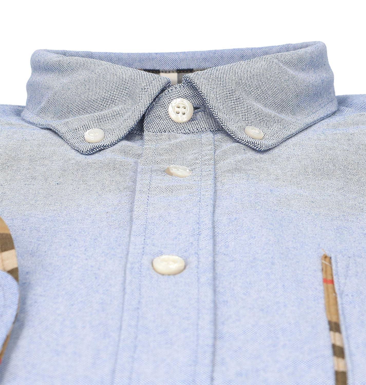 BURBERRY Homme 8003089 Bleu Claire Coton Chemise  Amazon.fr  Vêtements et  accessoires 009f468b159