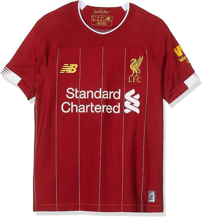 New Balance Liverpool FC 2019/20 Home Junior SS Jersey S/s Top Bebé-Niños: Amazon.es: Ropa y accesorios
