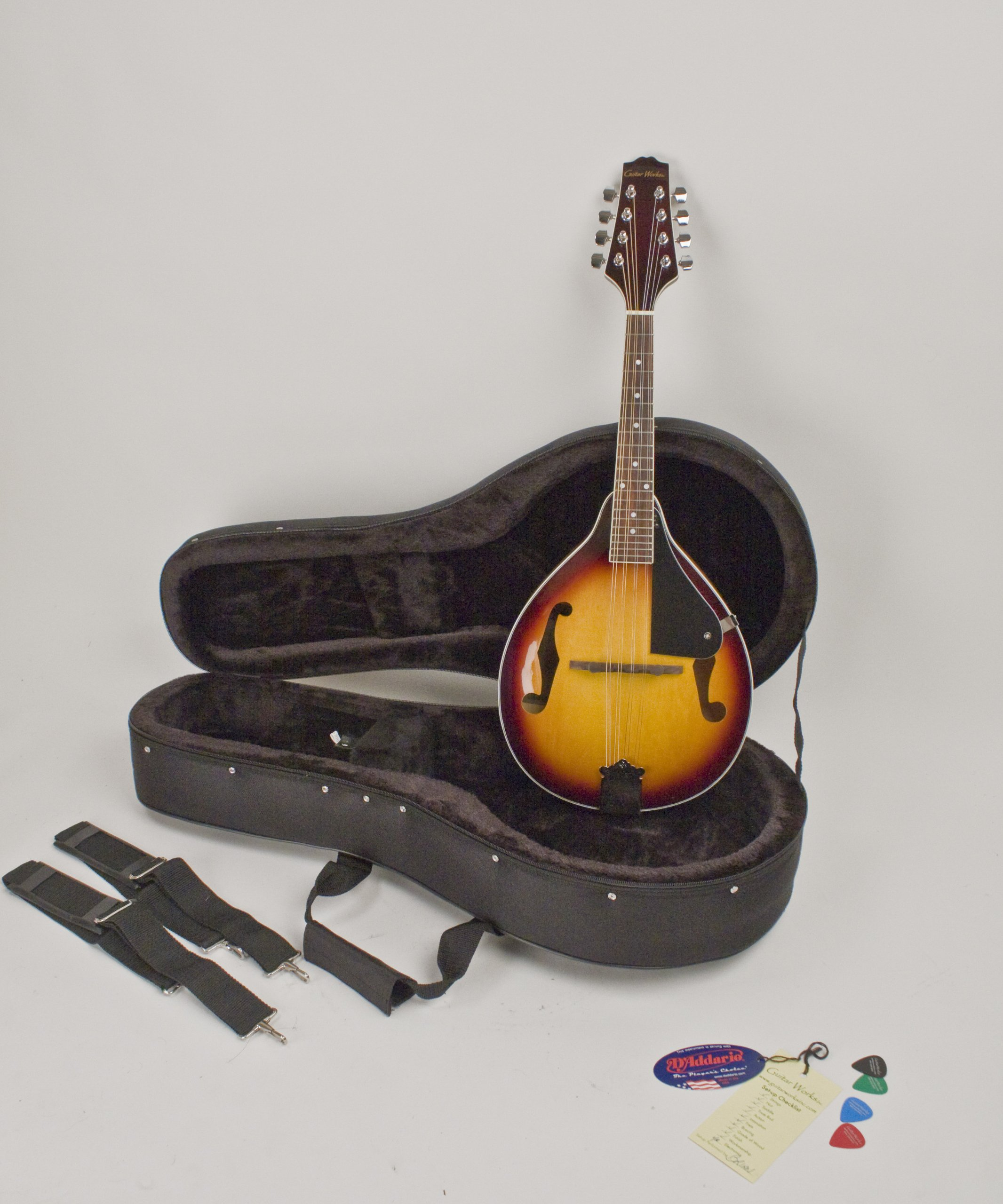 A Style Mandolin Sunburst Finish Professionally Set-Up In My Shop For Proper & Easy Play Hard Featherlite Case Included by Guitar Works, Inc.