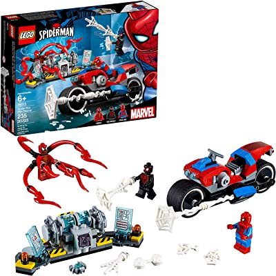 LEGO Marvel Spider-Man: Spider-Man Bike Rescue 76113 Building Kit (235 Pieces): Toys & Games