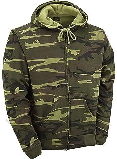 ROCK-IT signori mimetica giacca con cappuccio giacca sudore cerniera ... 8abd72ab682
