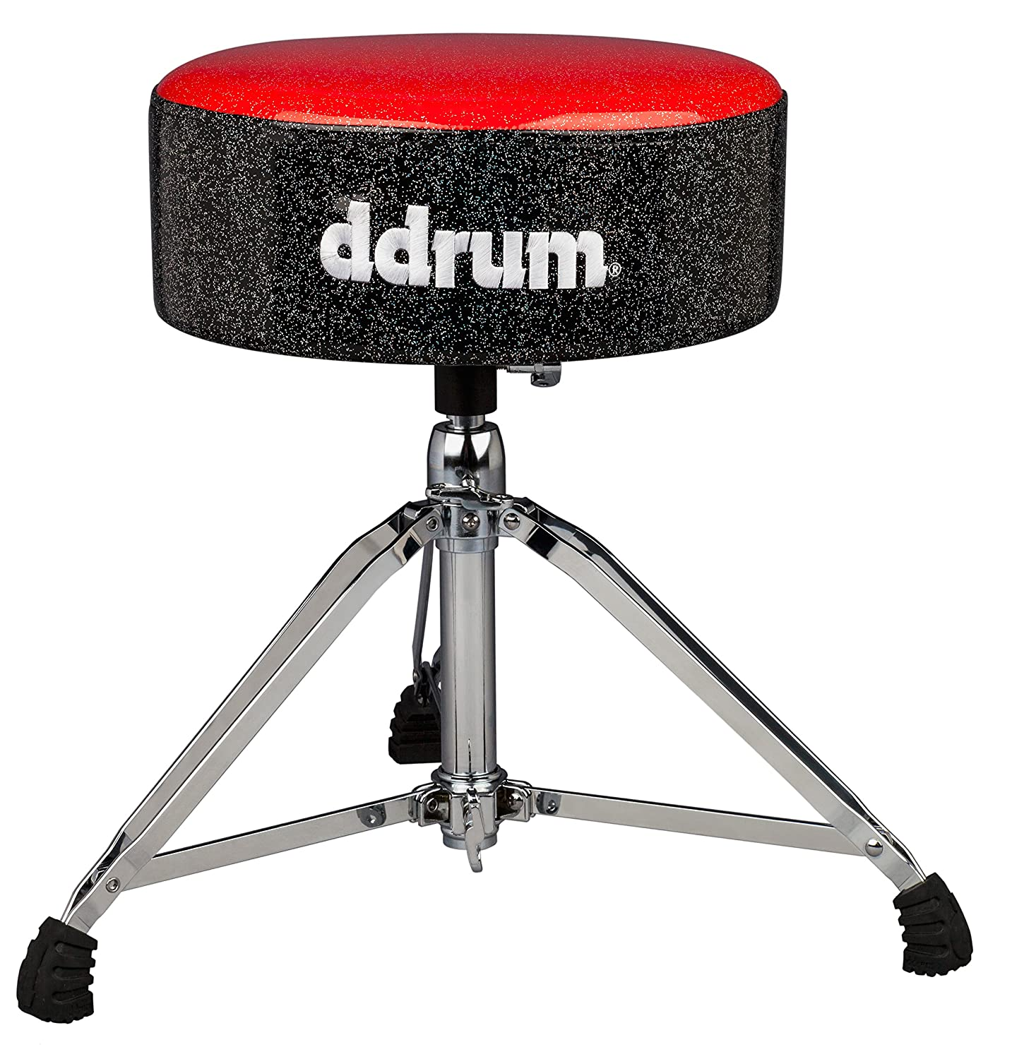 ddrum MFAT RB Mercury Fat Throne, Red Top Black Sides