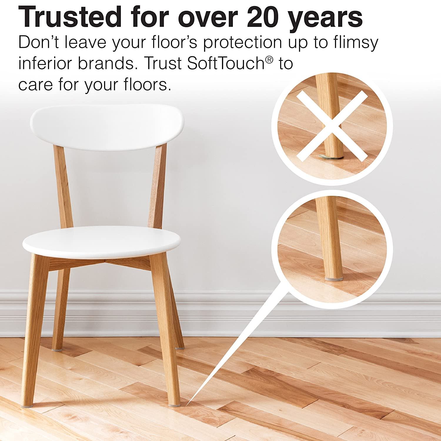 Self Stick Furniture Round Felt Pads for Hard Surfaces Protect