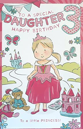 Jelly Beans Activity Card Special Daughter 3rd Birthday Greeting