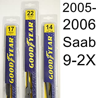 """product image for Saab 9-2X (2005-2006) Wiper Blade Kit - Set Includes 22"""" (Driver Side), 17"""" (Passenger Side) , 14B"""" (Rear Blade) (3 Blades Total)"""