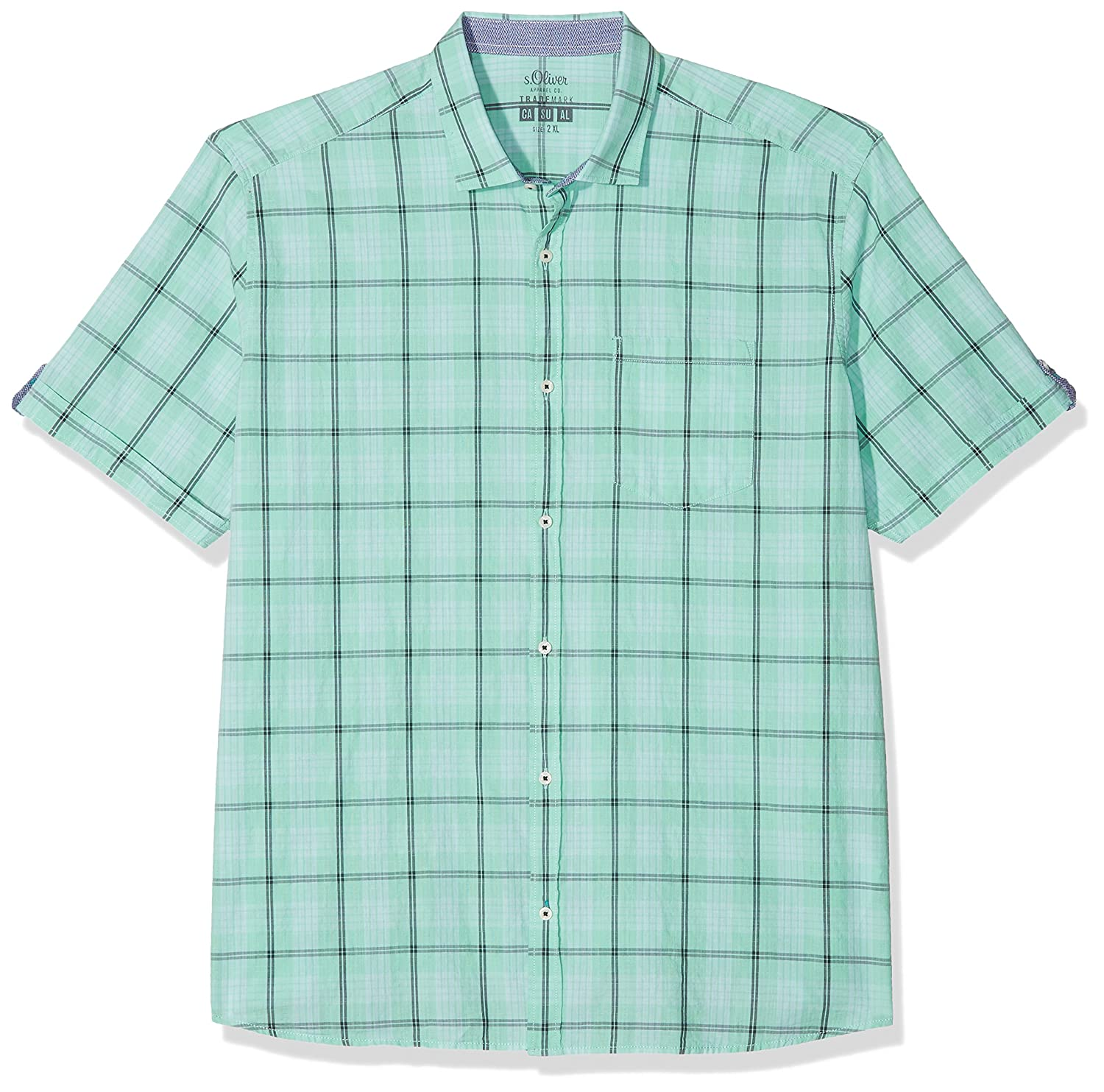 15.803.22.2200, Camisa Casual para Hombre, Turquesa (Pale Green 66N8), XXXL s.Oliver