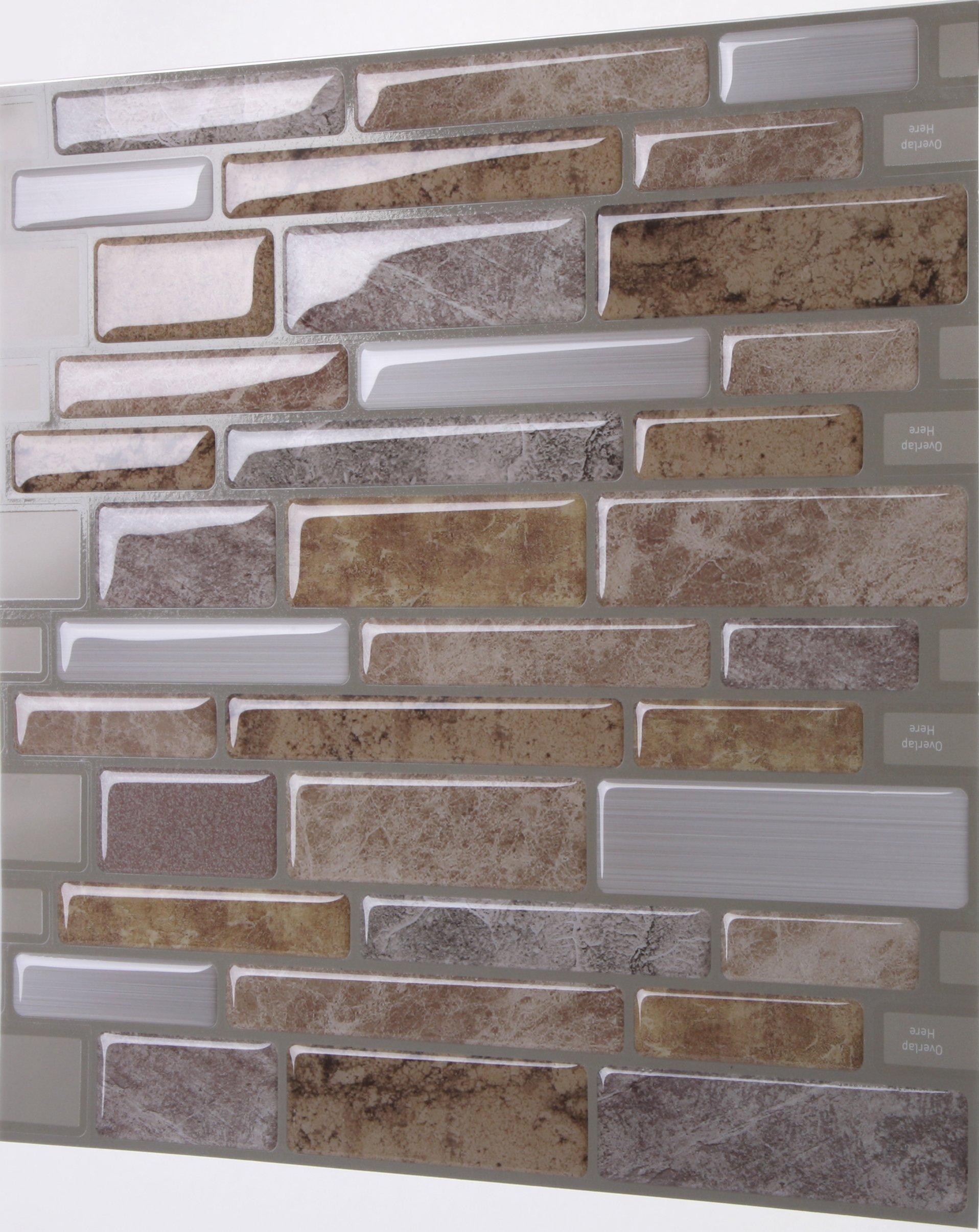 tic tac tiles anti mold peel and stick wall tile in polito fresco 10 tiles 636225638805 ebay. Black Bedroom Furniture Sets. Home Design Ideas