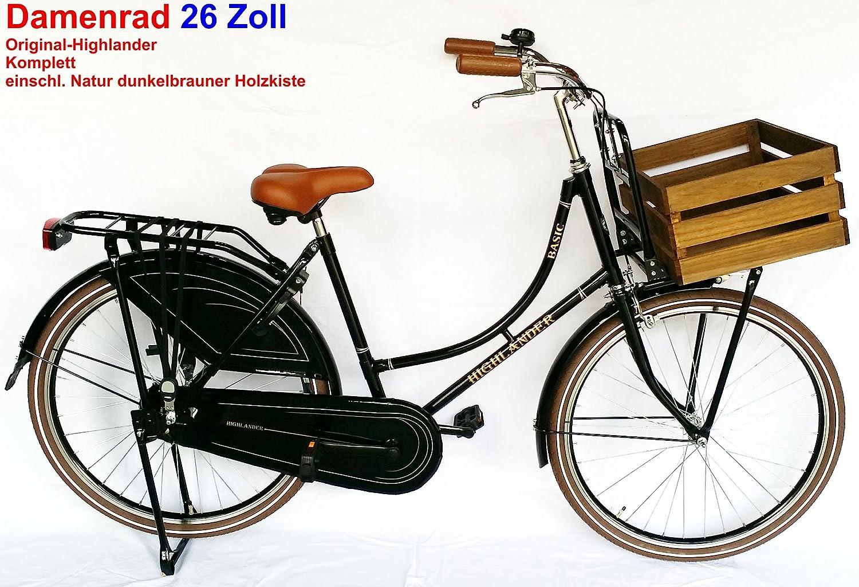 Bicicleta holandesa para mujer Highlander 26 pulgadas negro ...