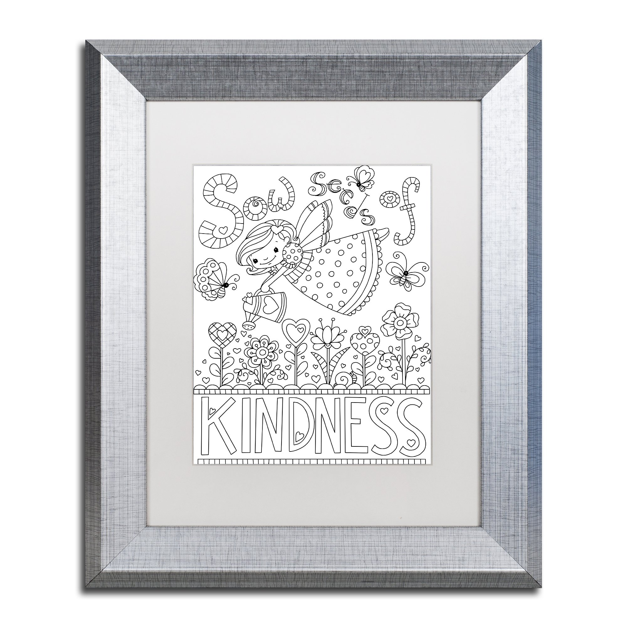 Sow Seeds by Jennifer Nilsson, White Matte, Silver Frame 11x14-Inch by Trademark Fine Art