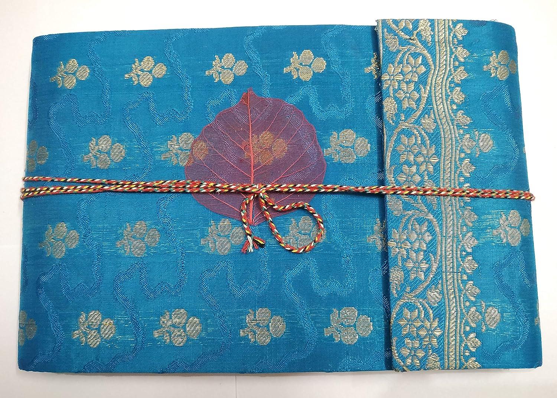R Store Handmade Sari Scrapbook and Photo Album (Size 10x7 inch) Birthday Anniversary Valentine's Gift Wedding Couples Family Photo Album Scrapbook Colored Pages