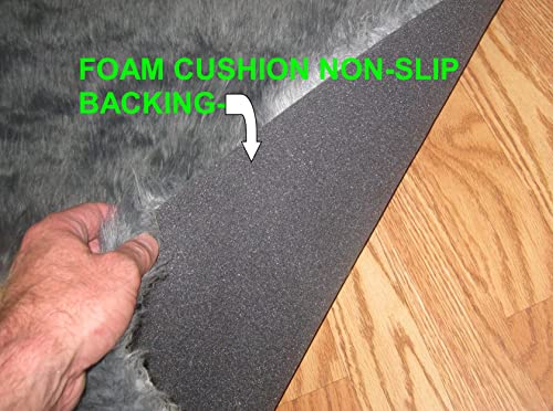 Flokati Faux Fur Rugs 3 x 5 Black