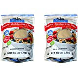 Stober Farms Organic Golden Flax Seed Cold-Milled Processed (48oz / 3lb / 1.36kg) - 2 Pack