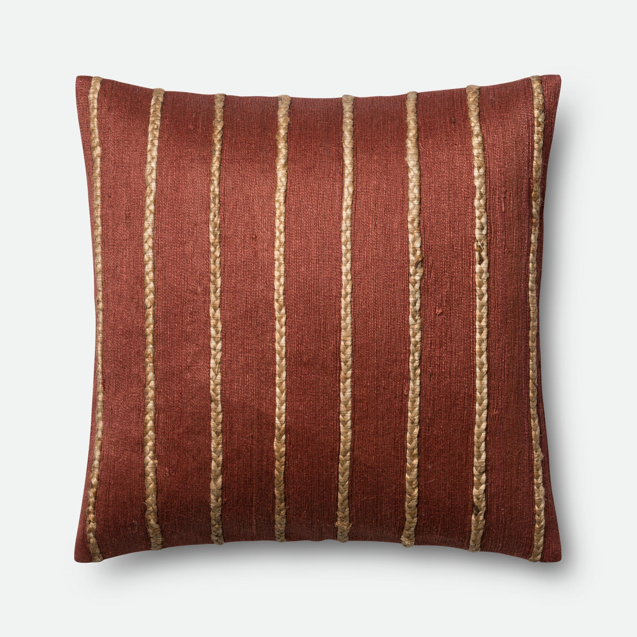 Loloi P0443 Jute and Cotton Pillow Cover