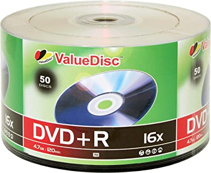 valuedisc, DVD + R 16 x 4.7 GB/120 Min Disco 50-Pack: Amazon.es: Electrónica