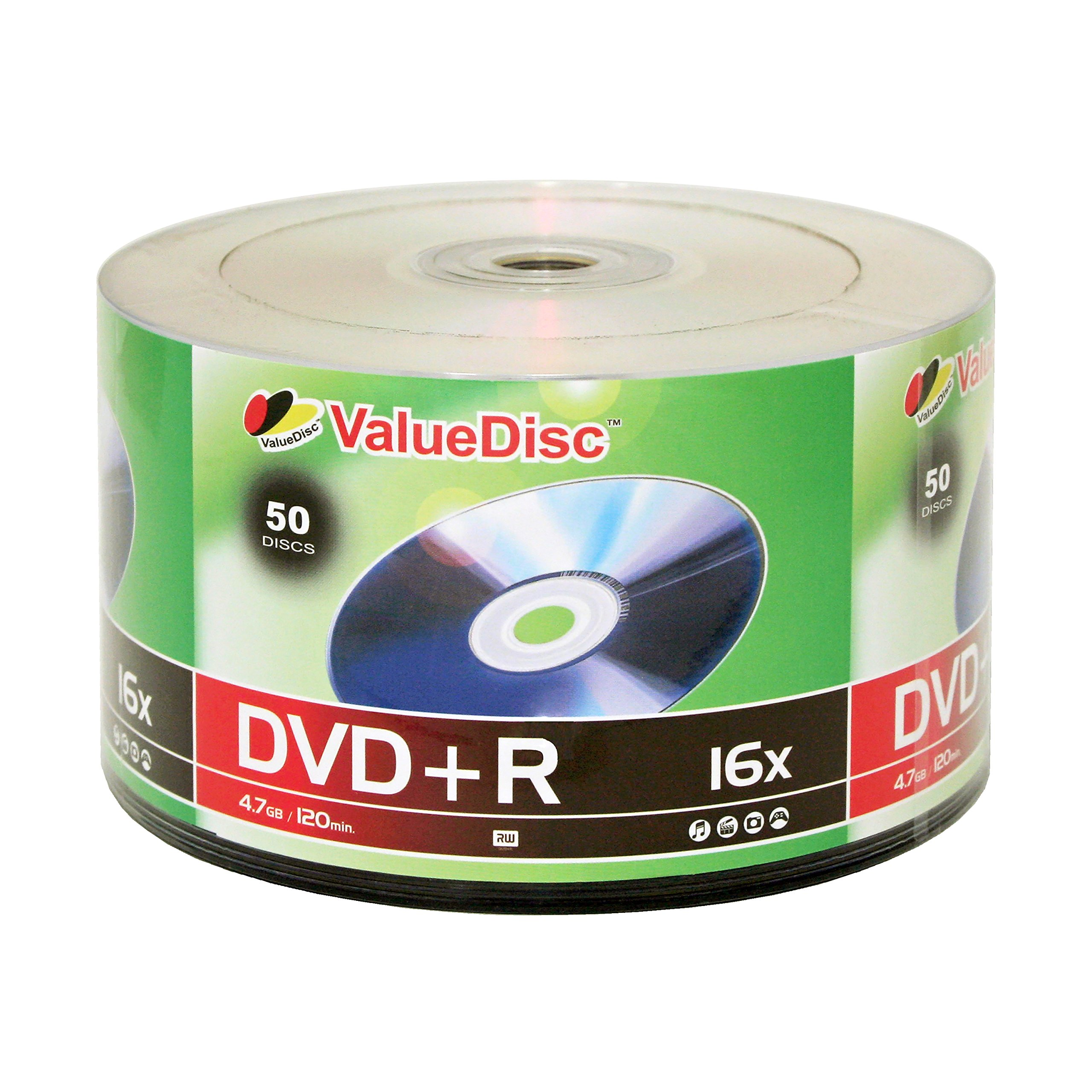 ValueDisc,DVD+R 16x 4.7GB/120 Minute Disc 50-Pack