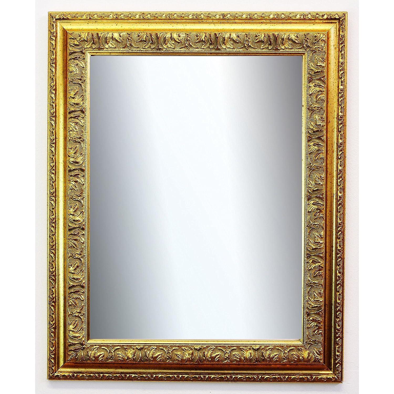 Online Galerie Bingold Spiegel Wandspiegel Badspiegel Flurspiegel Garderobenspiegel - Über 200 Größen - Rom Gold 6,5 - Außenmaß des Spiegels 60 x 100 - Wunschmaße auf Anfrage - Antik, Barock