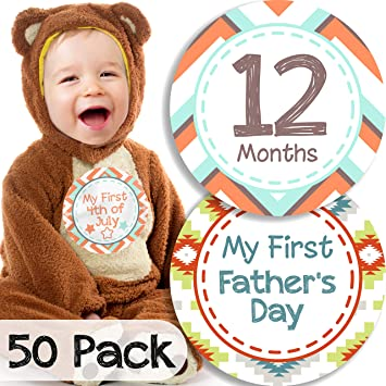 Other Baby Keepsakes Baby 24 Pack Baby Month Stickers And Milestone Stickers By Kenco Track Your Baby...