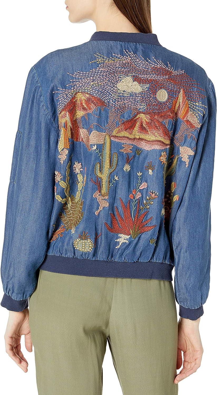 3J WORKSHOP Women's Yucca Bomber Jacket Denim Blue