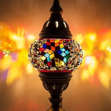 Lámpara de mosaico - Lámpara de mesa mosaico turca hecha a ...