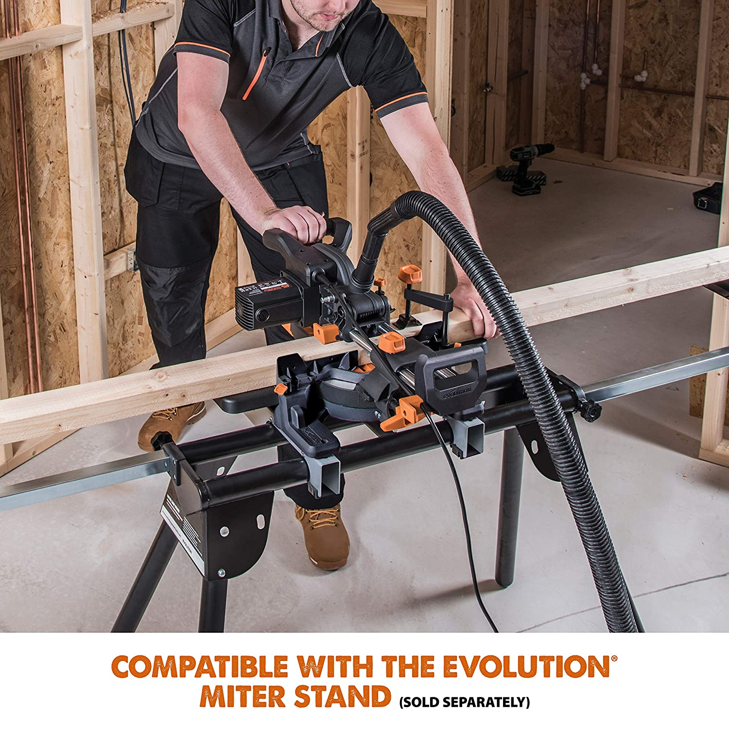 Evolution Power Tools Multi-Material Compound Sliding Miter Saw