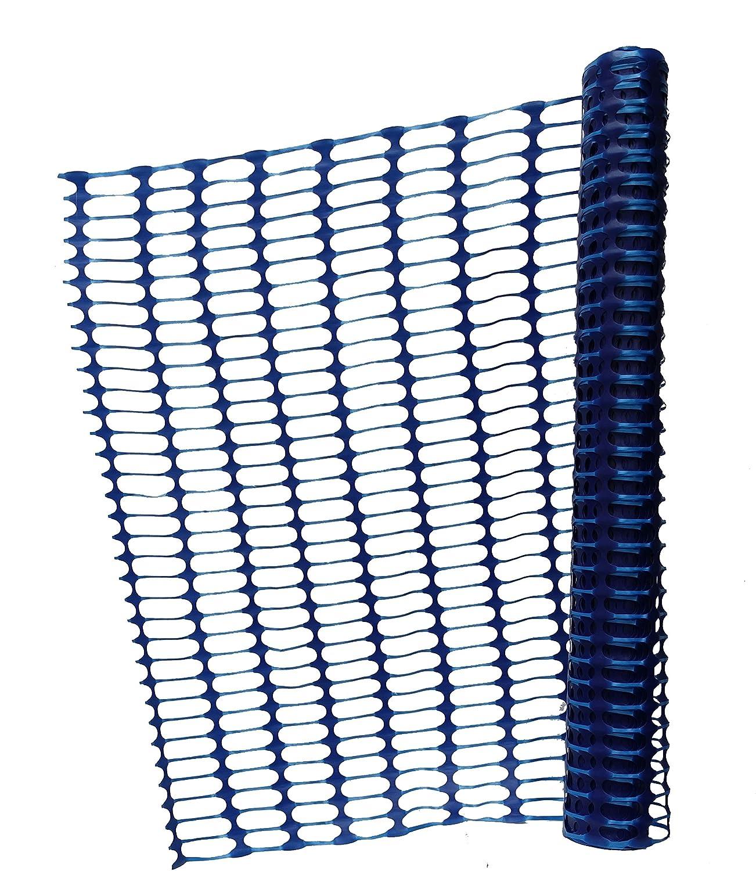 Clôture de sécurité/chien/construction/camping/démarcation/parcours d'agilité, 1m de haut, extra résistant à la déchirure - en différentes longueurs (30 M Rôle, Bleu) Yorrxshire Enterprises