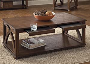Liberty Furniture Industries Chesapeake Bay Occasional Cocktail Table, Sunset Finish