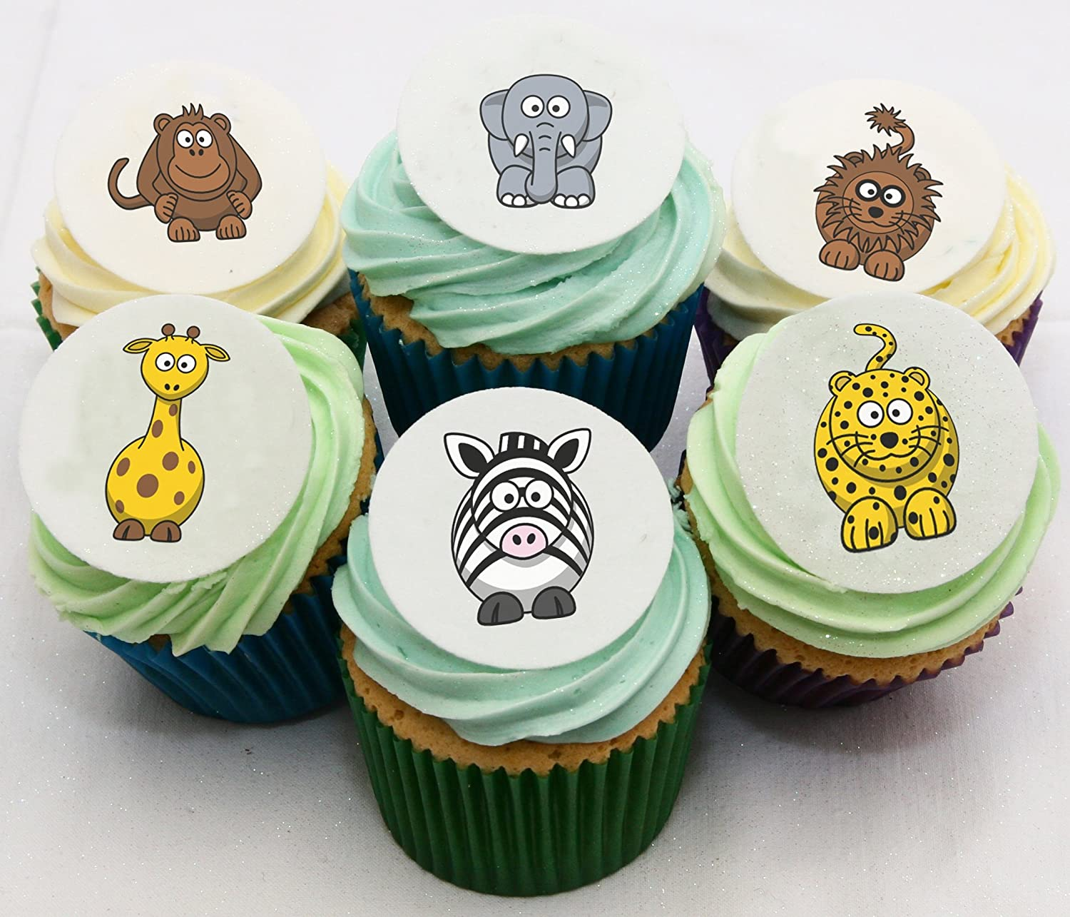 48 Wild Animal Cake Decorations Holly Cupcakes