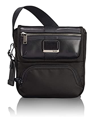 8d30b7ef6ebd TUMI - Alpha Bravo Barton Crossbody Bag - Satchel for Men and Women - Black