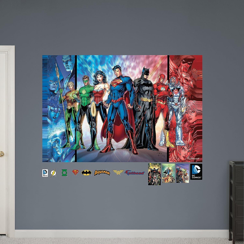 Amazon fathead justice league mural vinyl decals home kitchen amipublicfo Choice Image