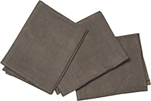 Classic Home Store Scrim Squares 100% Linen Traditional Cleaning Polishing Washing Windows Cloth - Brown (68cm x 68cm)