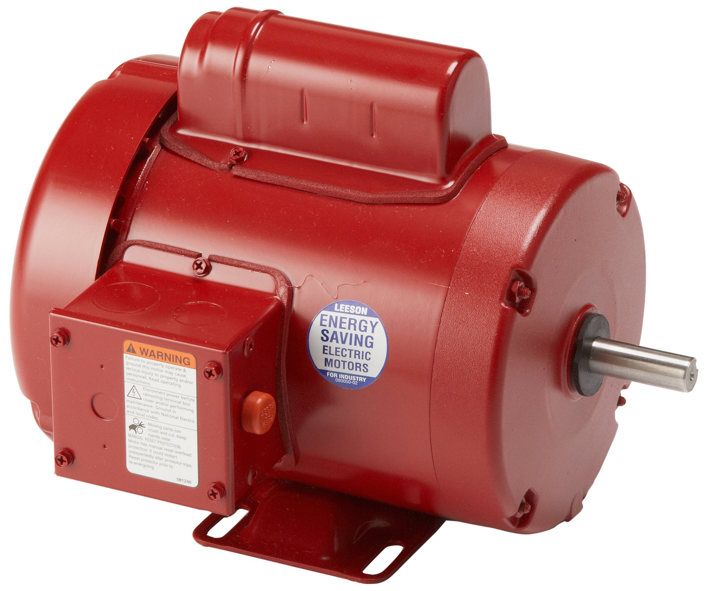 Leeson 110087.00 General Purpose Agricultural Motor, 1 Phase, 56 Frame, Rigid Mounting, 3/4HP, 1800 RPM, 115/208-230V Voltage, 60Hz Fequency by Leeson