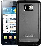 mumbi Tasche Protector Case für Samsung i9100 Galaxy S2 Silikon Hülle - Silicon Etui SII S 2 Schutzhülle / Rückseite mit Milchglaseffekt - BLACK