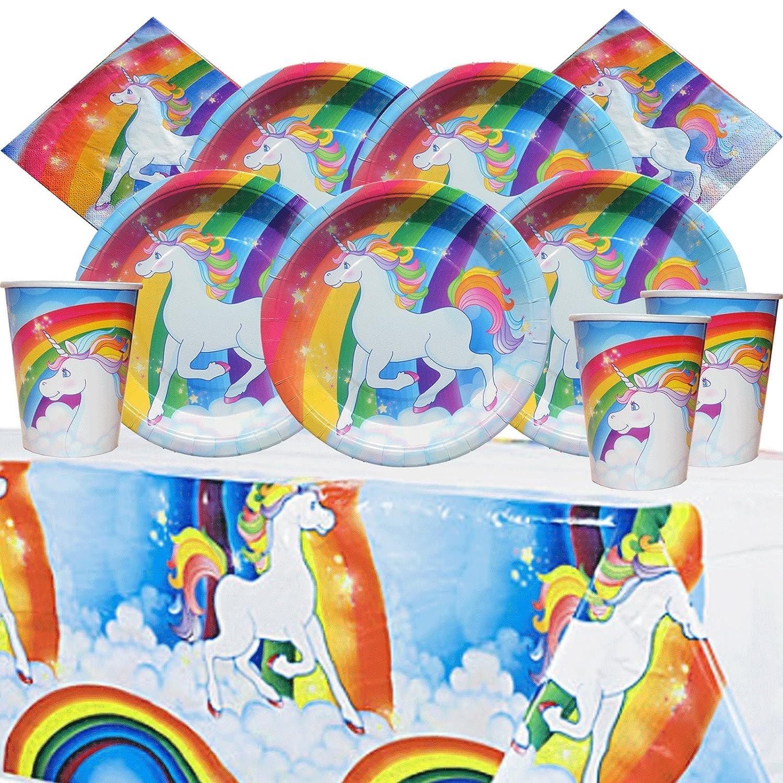 8 rainbow unicorn paper party plates kids party supplies