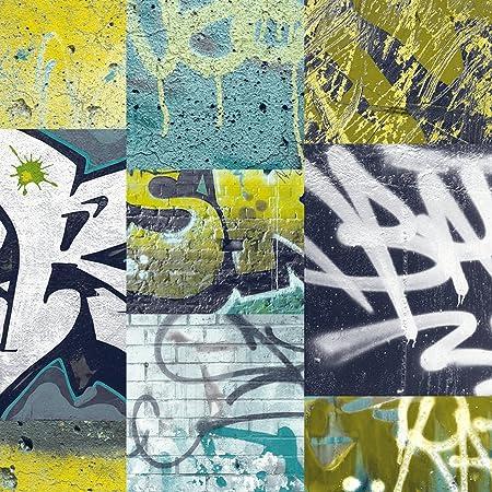 Arthouse 668300 Graffiti Wallpaper Lime 53 Cm X 10 05 M Amazon Co