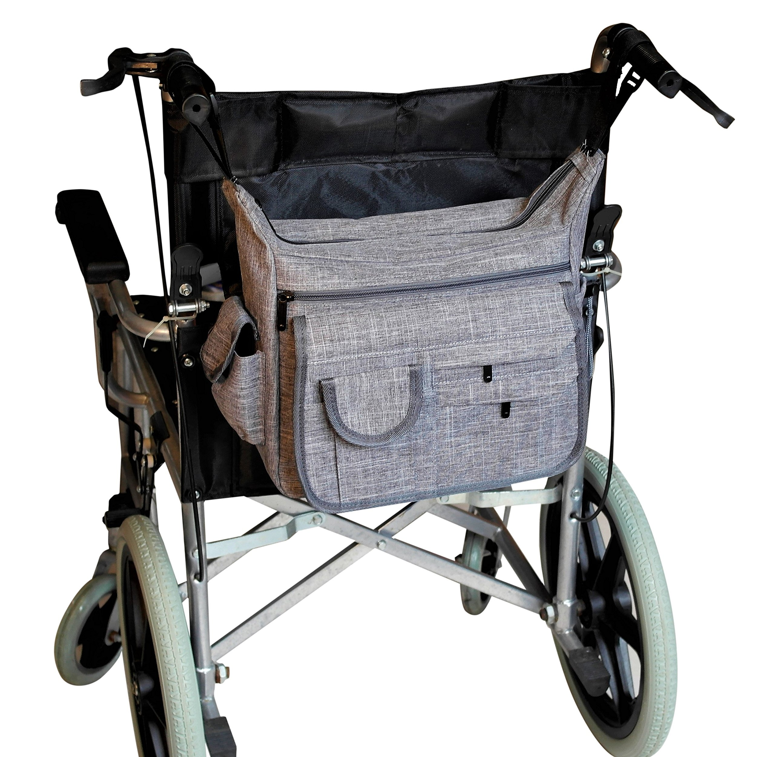 Large Wheelchair Back Bag With Secure Zip Closure