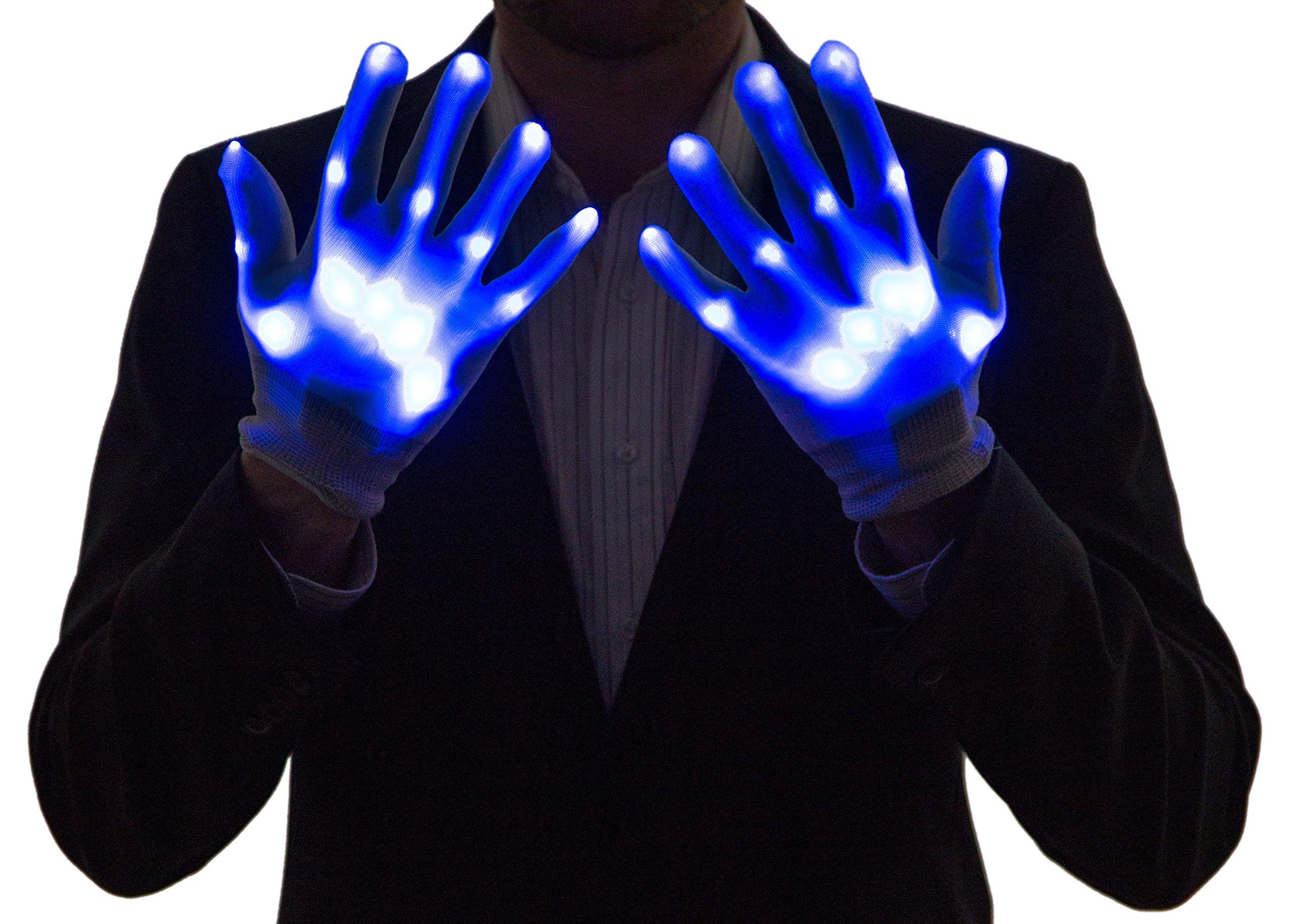 Neon Nightlife Light Up Gloves for Kids, LED, Blue by Neon Nightlife (Image #2)