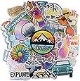 Cute Vsco Aesthetic Sticker Pack[50pc] Vinyl Waterproof for Laptops Hydro Flasks Water Bottle Hydroflask Waterbottles MacBook-Decals for Kids, Teens Vsco Girl Stuff (Nature)